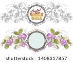 vector plant vignette for...   Shutterstock .eps vector #1408317857