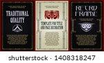 template advertisements  flyer  ...   Shutterstock .eps vector #1408318247