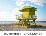 miami south beach   sunrise at... | Shutterstock . vector #1408320434
