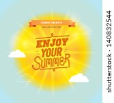 isolated summer sun with... | Shutterstock .eps vector #140832544