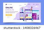 online check in landing page ... | Shutterstock .eps vector #1408326467