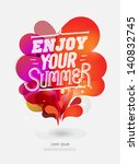 illustration with graphic... | Shutterstock .eps vector #140832745