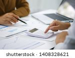 businessman analyzing... | Shutterstock . vector #1408328621