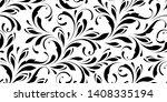 floral seamless pattern. swirls ... | Shutterstock .eps vector #1408335194
