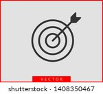 target icon vector. darts board ... | Shutterstock .eps vector #1408350467