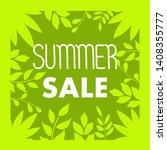 summer sale. frame with leaves. ... | Shutterstock .eps vector #1408355777