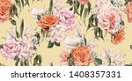 seamless floral pattern with...   Shutterstock . vector #1408357331