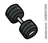 cartoon heavy dumbbell vector...   Shutterstock .eps vector #1408357394