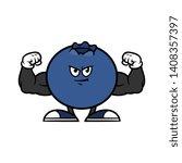 cartoon flexing muscular...   Shutterstock .eps vector #1408357397