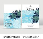 abstract exotic tropical leaves ... | Shutterstock .eps vector #1408357814