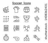 soccer  football icon set in... | Shutterstock .eps vector #1408362431