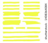 vector highlighter. hand drawn... | Shutterstock .eps vector #1408364084