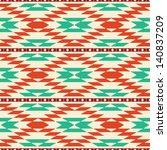 rug geometric tribal seamless... | Shutterstock .eps vector #140837209