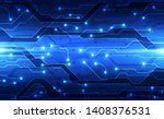 vector future digital circuit... | Shutterstock .eps vector #1408376531