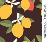 Seamless Pattern With Lemons....