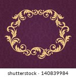 vector vintage gold border... | Shutterstock .eps vector #140839984