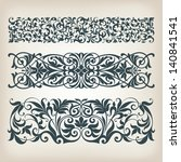 vector set vintage ornate... | Shutterstock .eps vector #140841541