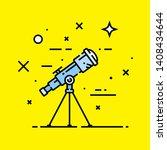 telescope astronomy line icon.... | Shutterstock .eps vector #1408434644