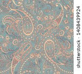 paisley seamless pattern.... | Shutterstock .eps vector #1408439924