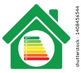 energy efficiency home rating... | Shutterstock .eps vector #1408456544