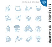 fast food related icons.... | Shutterstock .eps vector #1408456841