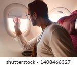 Passenger In A Modern Airplane...