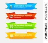 ribbon color banners. a vivid... | Shutterstock .eps vector #1408467371