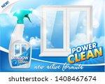 window cleaner ad. vector 3d... | Shutterstock .eps vector #1408467674