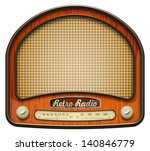 realistic retro radio  isolated ... | Shutterstock .eps vector #140846779