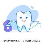vector illustration of cartoon... | Shutterstock .eps vector #1408509611