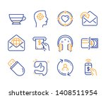 receive mail  americano and... | Shutterstock .eps vector #1408511954