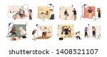 collection of male and female... | Shutterstock .eps vector #1408521107
