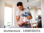 a portrait of father and small... | Shutterstock . vector #1408530251