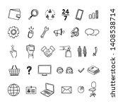 online shopping vector icons.... | Shutterstock .eps vector #1408538714