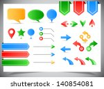 collection of arrows  markers... | Shutterstock .eps vector #140854081