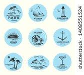 hand drawn summer design... | Shutterstock .eps vector #1408551524