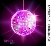disco ball. disco background | Shutterstock .eps vector #140856301