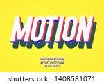 motion vector font 3d bold... | Shutterstock .eps vector #1408581071