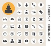 medical icons set  .... | Shutterstock .eps vector #140858539