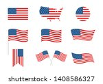 usa independence day 4th of... | Shutterstock .eps vector #1408586327