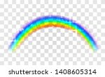 realistic rainbow. abstract... | Shutterstock .eps vector #1408605314