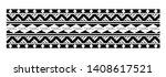 tattoo tribal maori pattern ... | Shutterstock .eps vector #1408617521