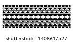 tattoo tribal maori pattern ... | Shutterstock .eps vector #1408617527