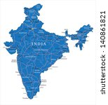 india map | Shutterstock .eps vector #140861821