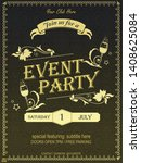 yellow ornate vintage event... | Shutterstock .eps vector #1408625084