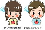fifth disease kids illustration ...   Shutterstock .eps vector #1408634714