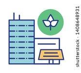 eco city line color icon....