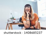 close up of a businesswoman... | Shutterstock . vector #1408685237
