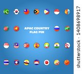 set of apac countries flag icon ... | Shutterstock .eps vector #1408698917