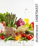 various types of fresh... | Shutterstock . vector #1408706537
